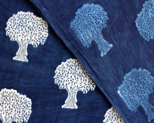 Indigo Blue Fabric