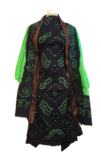 Ethnic Cotton Bandhani Dress Material