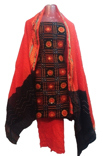 Ethnic Bandhani Unstitched Suit