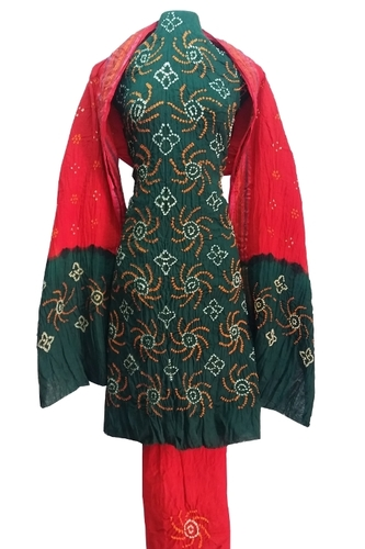 Pure Cotton Bandhani Dress Material