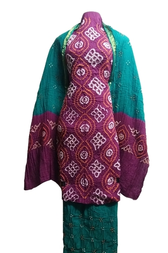 Traditional Bandhani Dress Material Wholesaler
