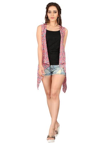 Pink Jacket Style Shrug