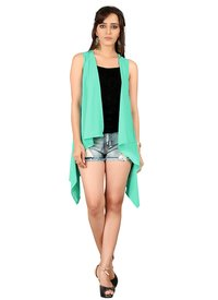 Ladies Plain Pista Green Shrug