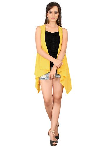 Yellow Grorgette Shrug