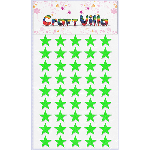 Craft Villa Small Card  Neon Glitter Sticker