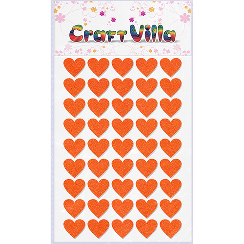 Craft Villa Small Card Heart Glitter Sticker