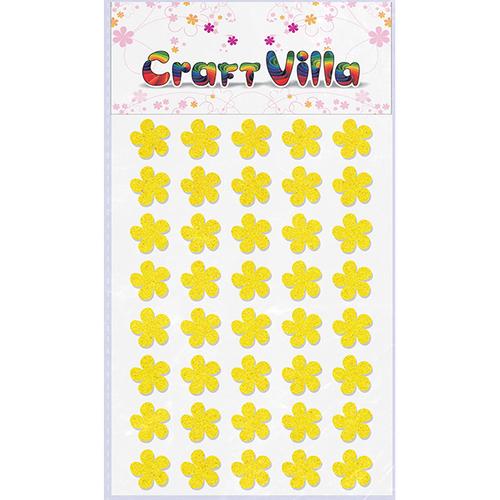 Craft Villa Small Card Flower Glitter Sticker