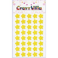 Craft Villa Small Card Flower Glitter Sticker