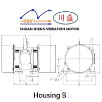 2 Pole Vibrating Motor