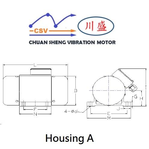 CSV 2 Pole Vibrator Motor