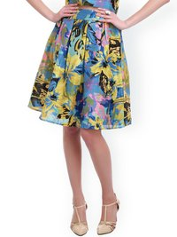 Ladies Flower Multicolor Skirts