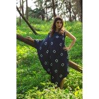 Tie & Dye Satin Fiish Stylish Dress