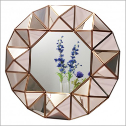 Round Glass Wall Mirror