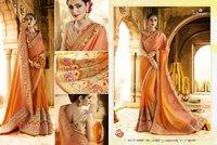 Orange Exclusive Designer Saree