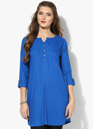 Ladies Rayon Blue Tops