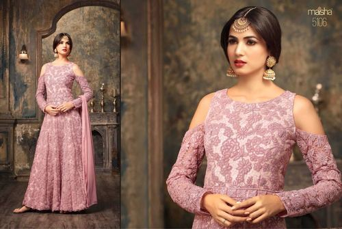 Heavy Embroidery Party Wear Gown
