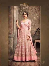 Exclusive Designer Pink Party Wear Gown