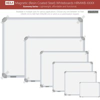 Hexa Magnetic (Resin Coated Steel) Whiteboards