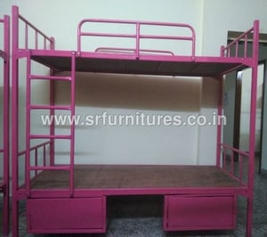 Wood And Iron Cot Bunk Beds