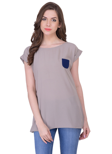 Ladies Brown Plain Tops