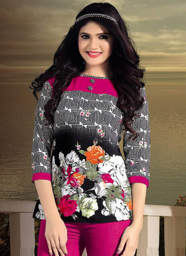 Ladies Colourful Flower Tops