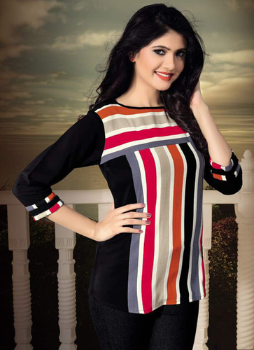 Ladies Multicoloured Lining Tops