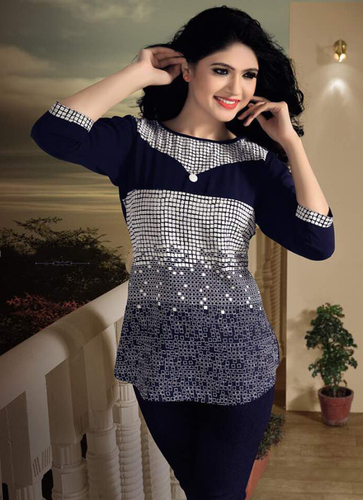 Ladies Navy Blue Tops