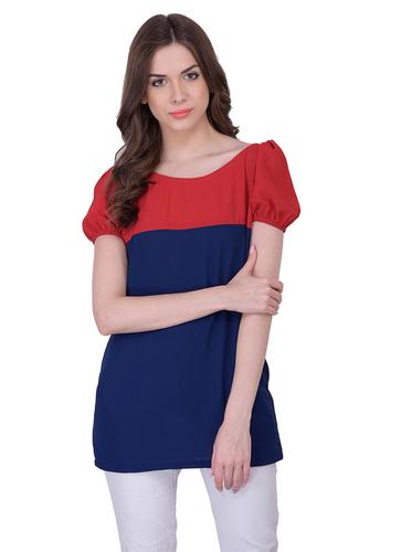 Ladies Red Blue Tops