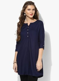 Ladies Navy Blue Kurti Tops