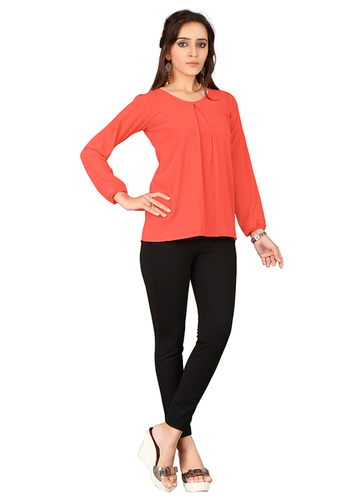 Ladies Plain 3/4 Sleeve Tops