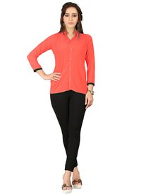 Office Wear Collar Tops