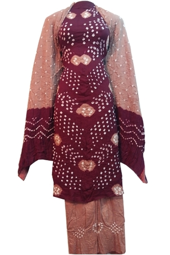 Bandhej Unstitched Salwar Suit