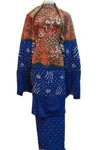 Multi Color Bandhani Unstitched Salwar Suit