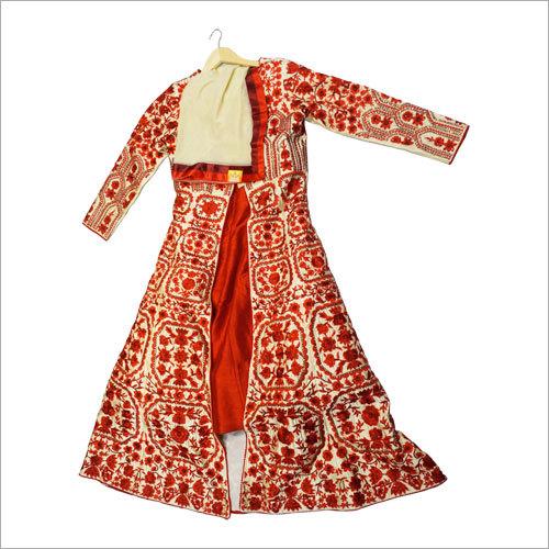 Ladies Embroidered Jacket With Lehenga
