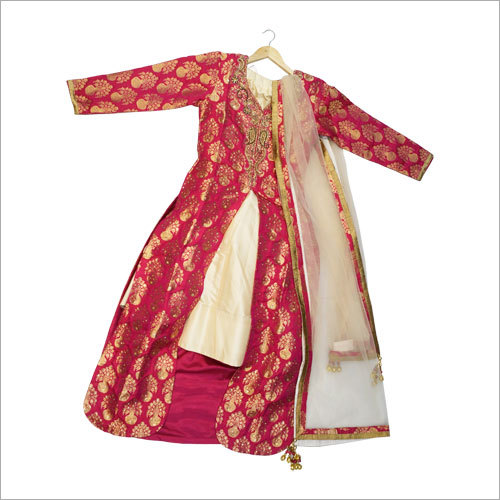 Ladies Silk Brocade Jacket With Lehenga