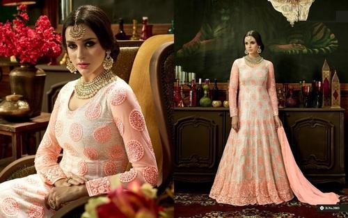 Floral Print Long Ethnic Suit In Surat