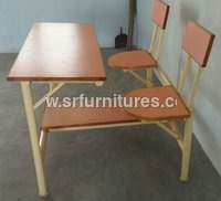 School Dual Chairs With Desk