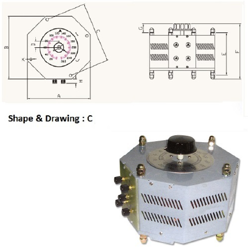 1 Phase Variac Slidac variable Transformer 380/440