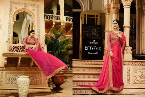 Red Designer Saree For Party