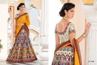 Multi Color Flower Digital Print Party Wear Lehenga