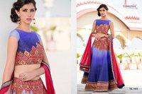 Blue Shaded Designer Lehenga Choli