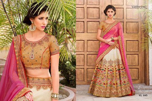 Pure Silk Digital Designer Lehenga Choli