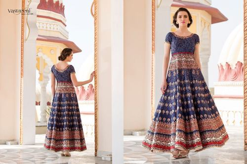 Party Wear Digital Printed Gown