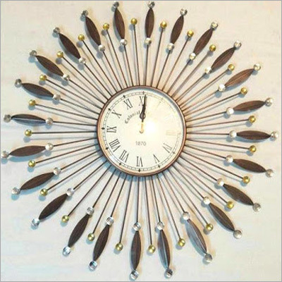 Wooden Artifact Wall Clock