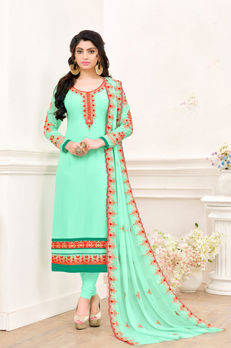 Designer Georgette Semi-Stitched Suits