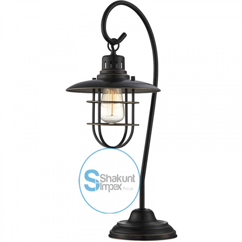 Industrial style metal table lamp