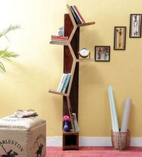 Handcrafted  Book Shelf in Dual Tone Finish by Wud