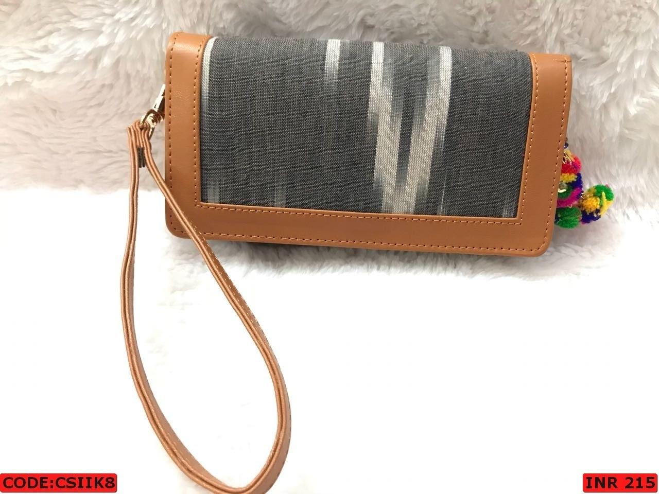 Woman Ikat Clutch Bag