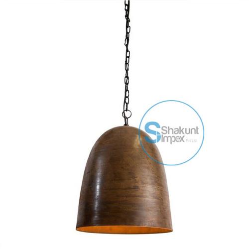 Vintage copper industrial hanging lamp