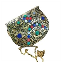 handmade antique metal clutch